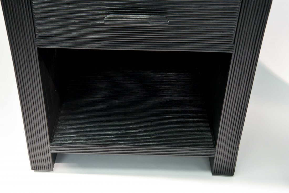 PAIR OF BLACK NIGHTSTANDS - 5