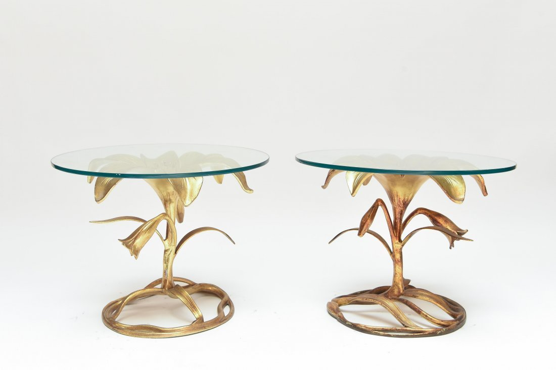 HOLLYWOOD REGENCY LILLY TABLES BY ARTHUR COURT