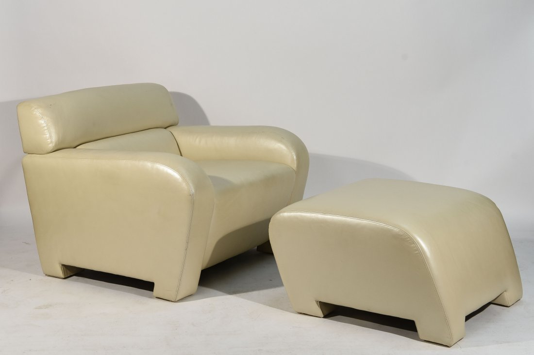 ATTR. VLADIMIR KAGAN LOUNGE, CHAIR & OTTOMAN
