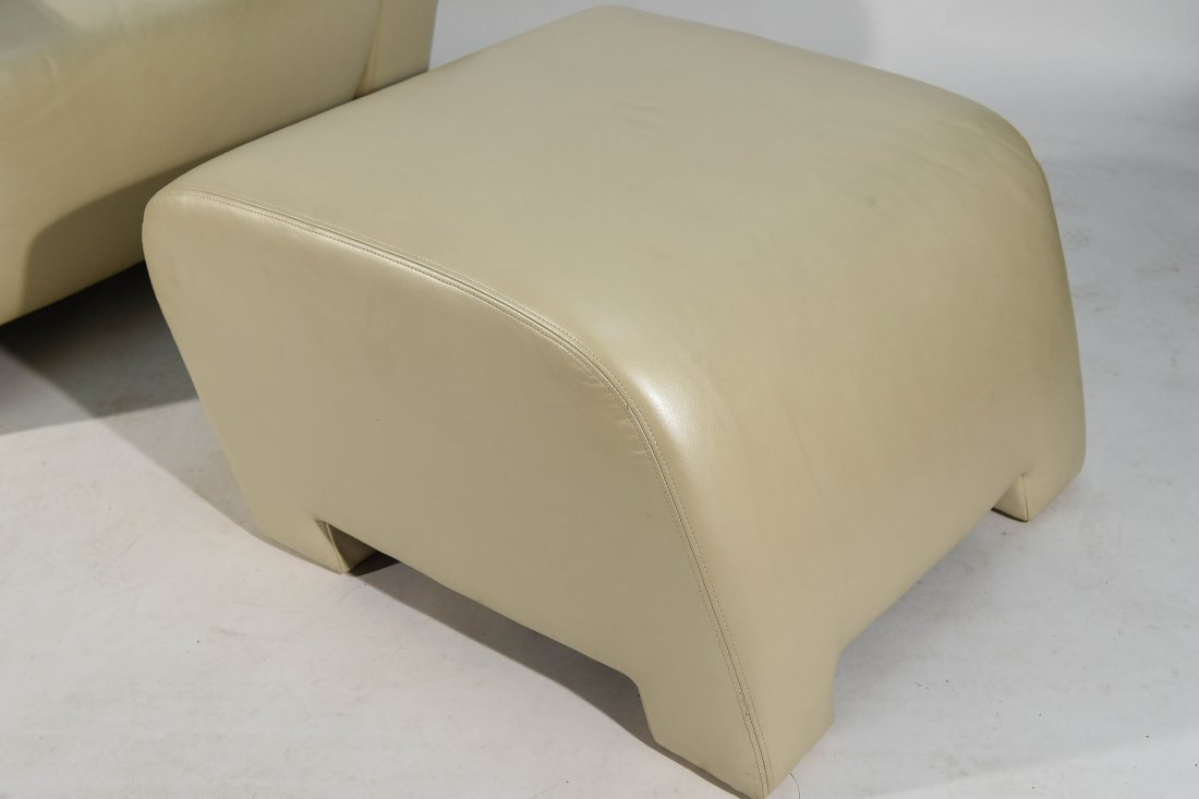 ATTR. VLADIMIR KAGAN LOUNGE, CHAIR & OTTOMAN - 6