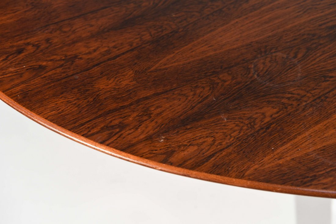FLORENCE KNOLL STEEL & ROSEWOOD DINING TABLE - 3