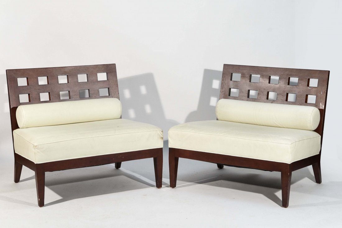 PAIR OF BERNHARDT LOUNGE CHAIRS