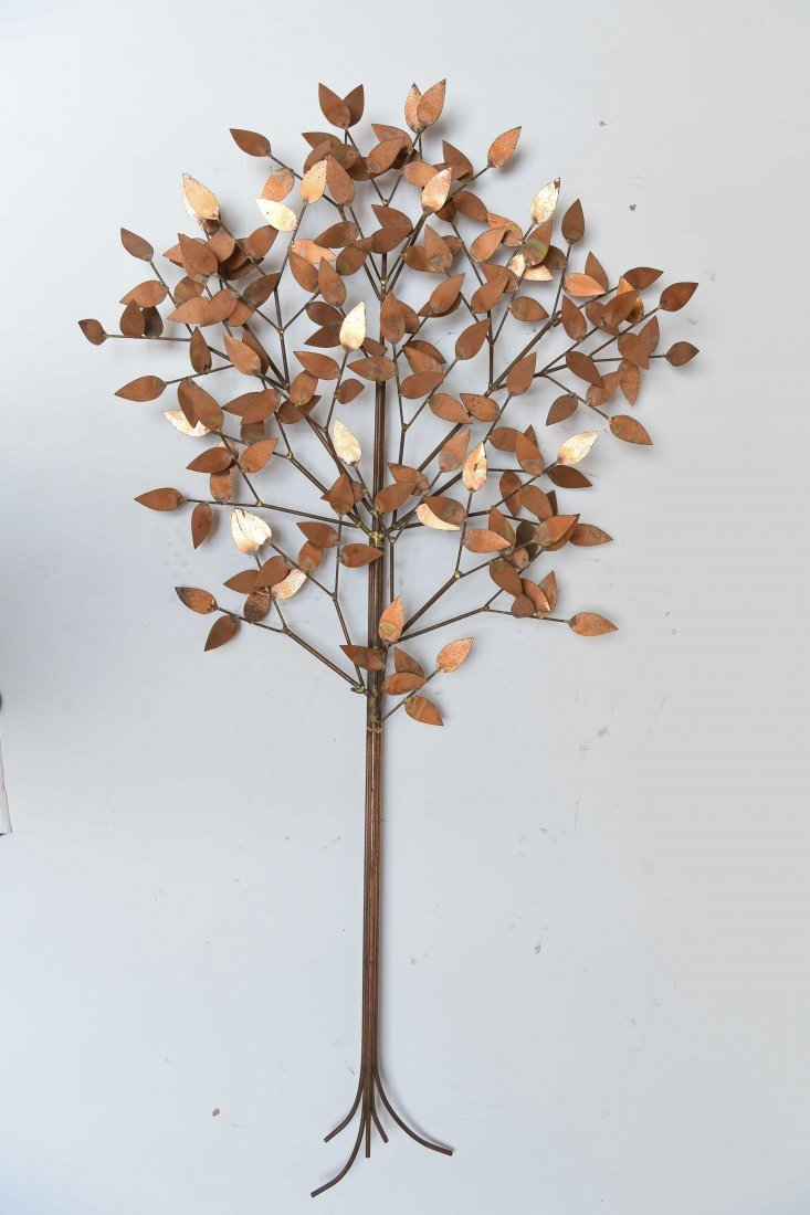 CURTIS JERE METAL TREE WALL SCULPTURE