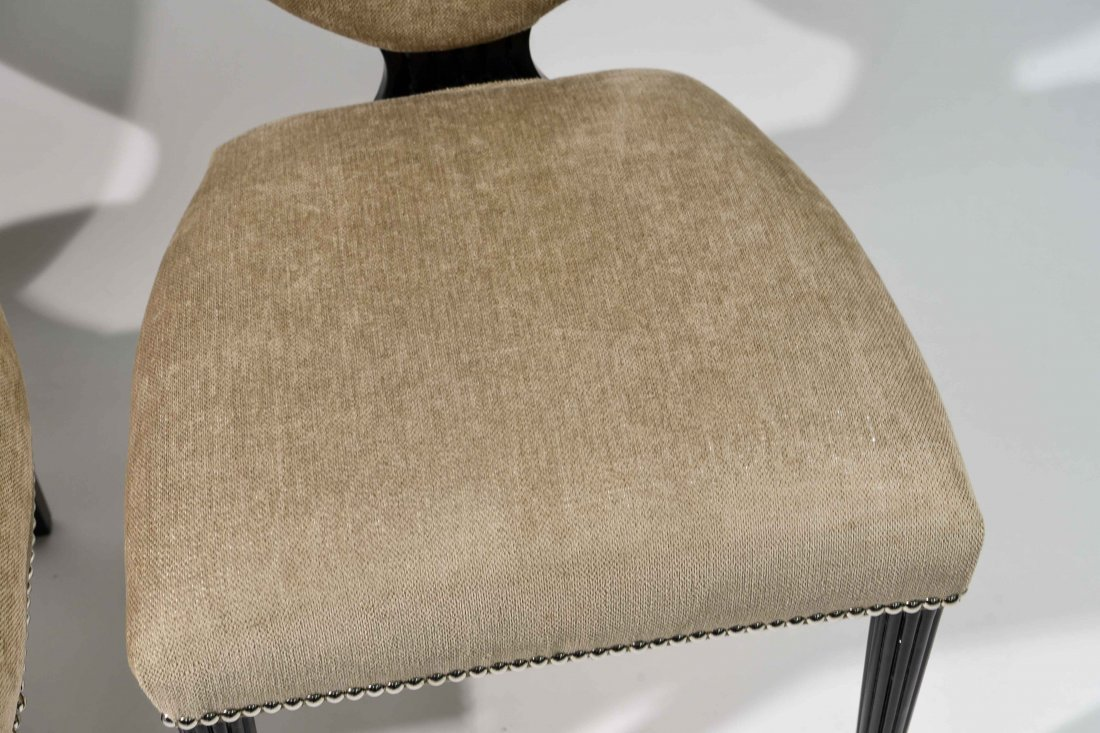 PAIR OF GROSFELD HOUSE UPHOLSTERED CHAIRS - 2