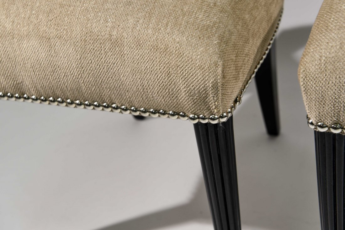 PAIR OF GROSFELD HOUSE UPHOLSTERED CHAIRS - 4