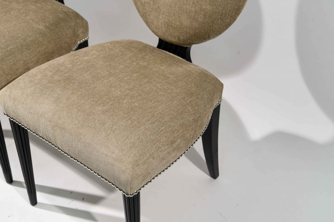 PAIR OF GROSFELD HOUSE UPHOLSTERED CHAIRS - 6