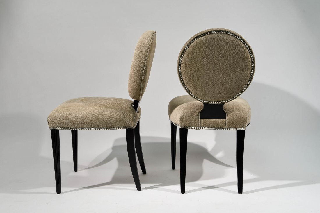 PAIR OF GROSFELD HOUSE UPHOLSTERED CHAIRS - 7