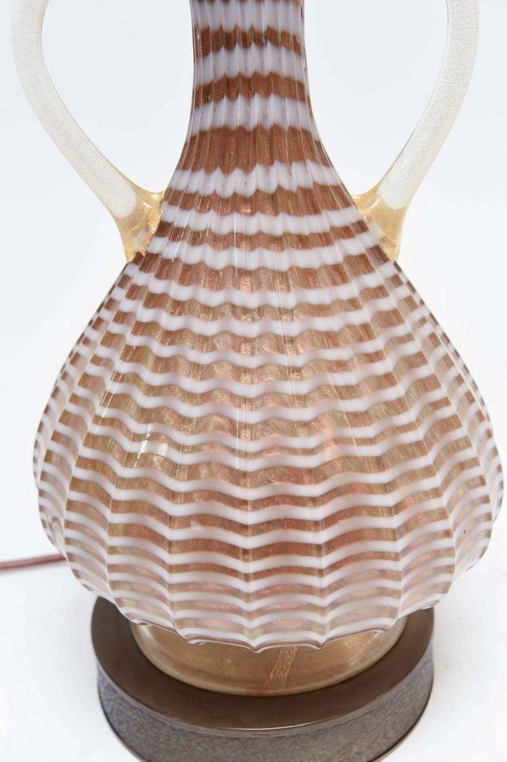 ITALIAN MURANO GLASS LAMP - 3