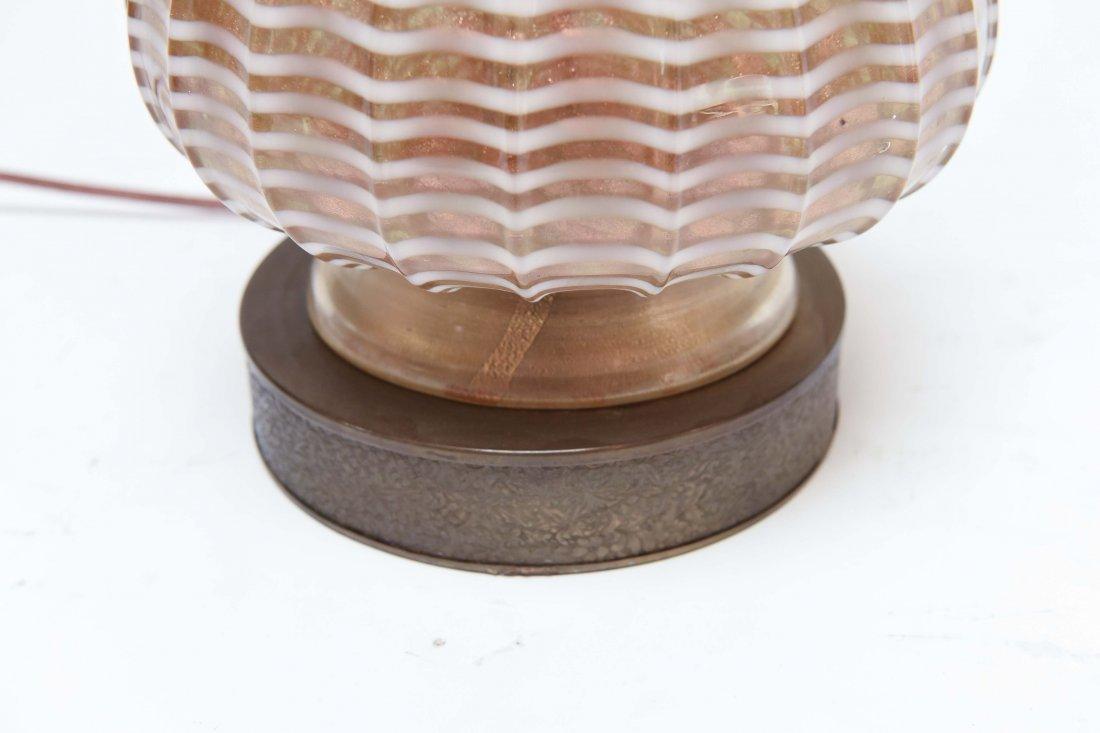 ITALIAN MURANO GLASS LAMP - 4
