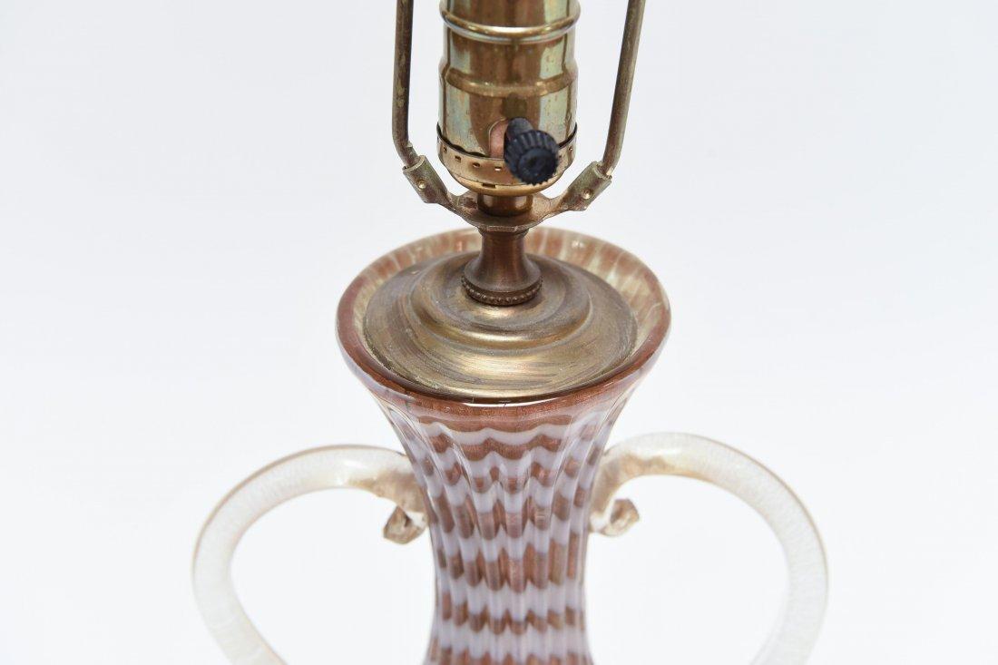 ITALIAN MURANO GLASS LAMP - 5