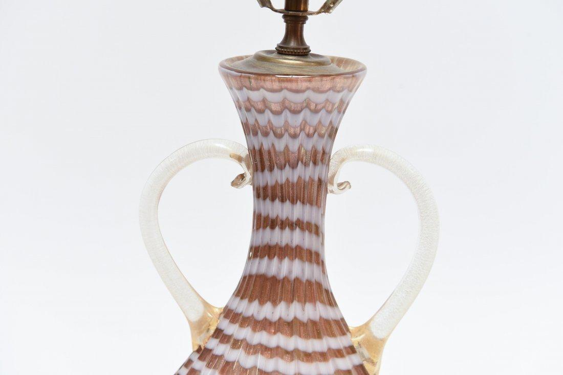 ITALIAN MURANO GLASS LAMP - 6