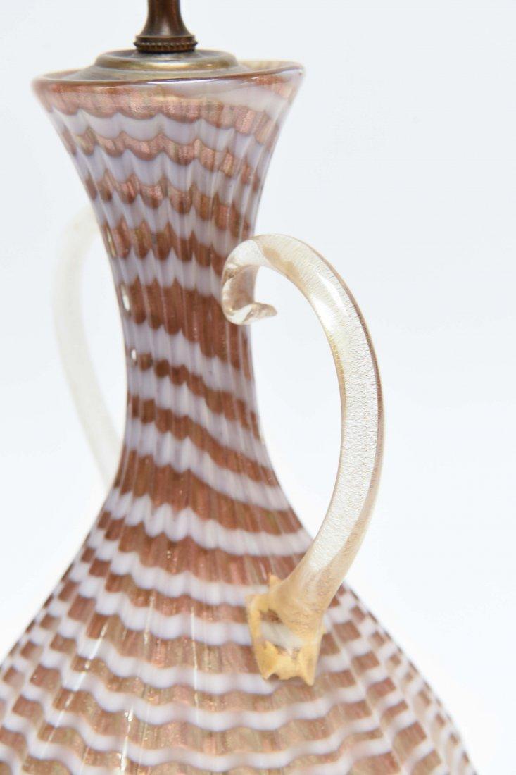ITALIAN MURANO GLASS LAMP - 7