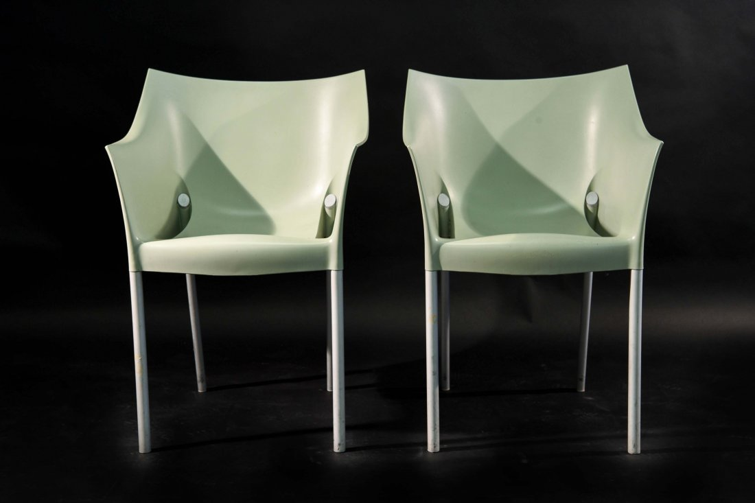 PAIR OF PHILIPPE STARCK; KARTELL DR. NO CHAIRS