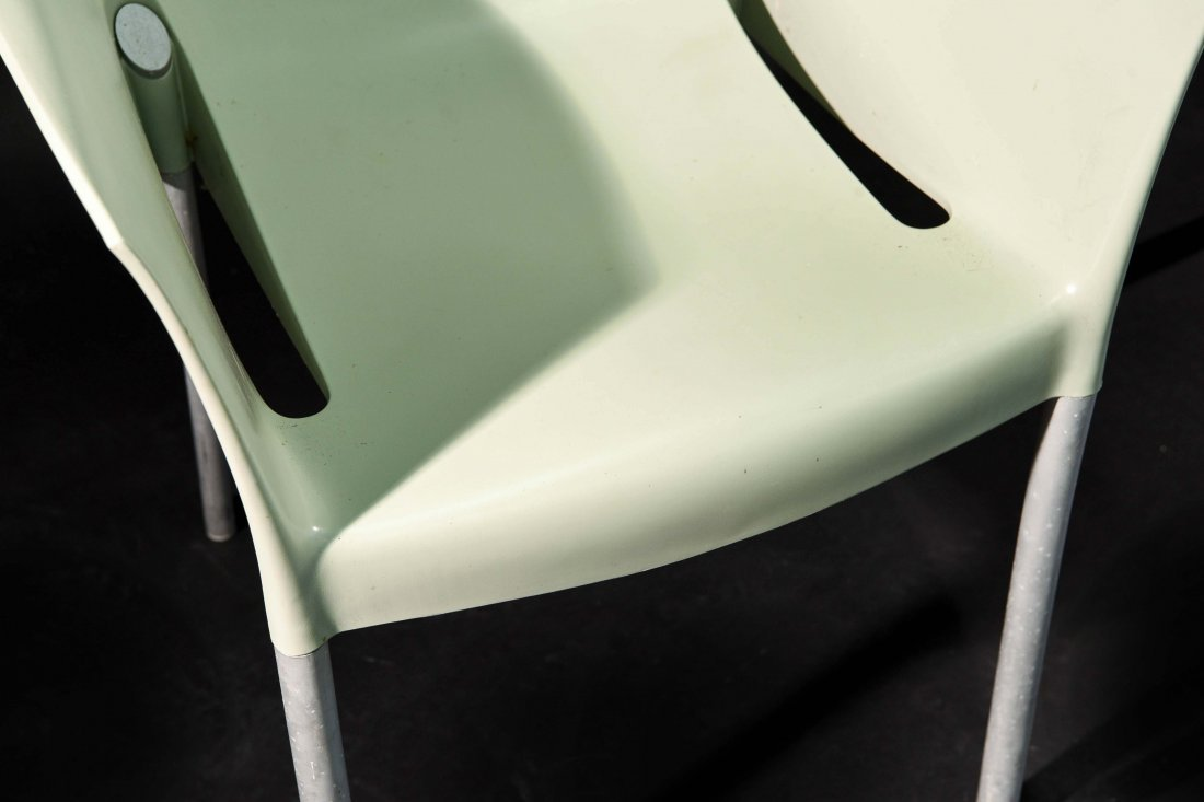 PAIR OF PHILIPPE STARCK; KARTELL DR. NO CHAIRS - 5
