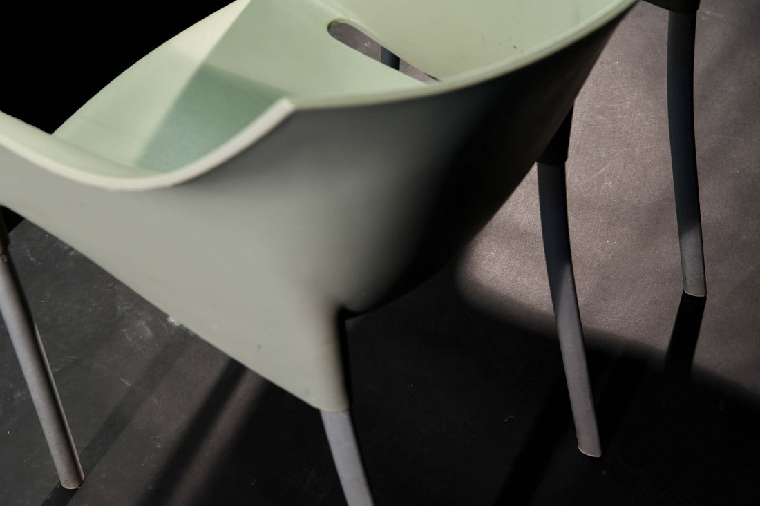 PAIR OF PHILIPPE STARCK; KARTELL DR. NO CHAIRS - 6