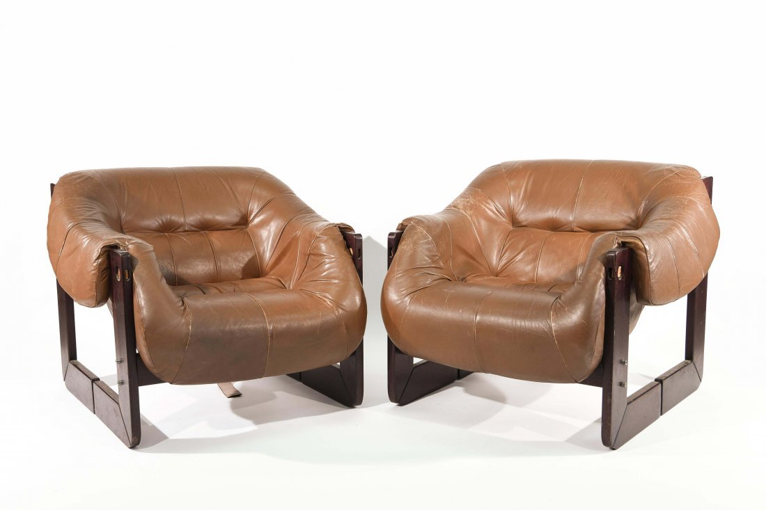 PAIR OF PERCIVAL LAFER ROSEWOOD LOUNGE CHAIRS