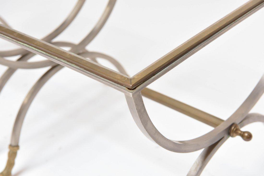(2) MAISON JENSEN BRASS & STEEL SIDE TABLES - 5