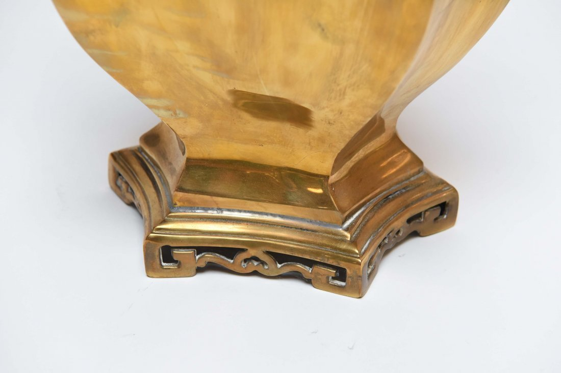 PAIR OF BRASS ASIAN STYLE LAMPS - 2