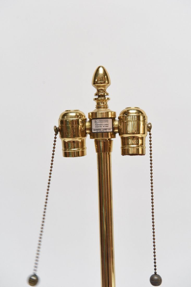 PAIR OF BRASS ASIAN STYLE LAMPS - 5