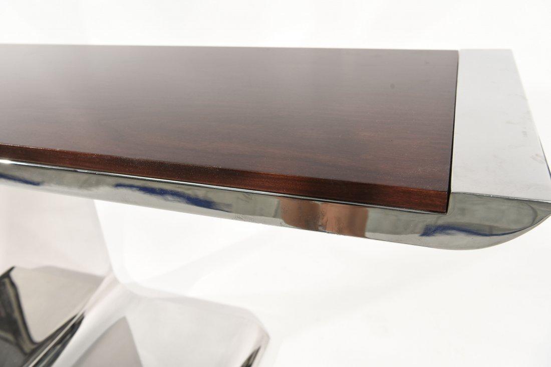 BRUETON STEEL & WOOD CONSOLE TABLE - 7