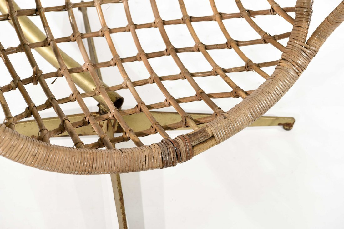 MID-CENTURY RATTAN HANGING EGG CHAIR - 6