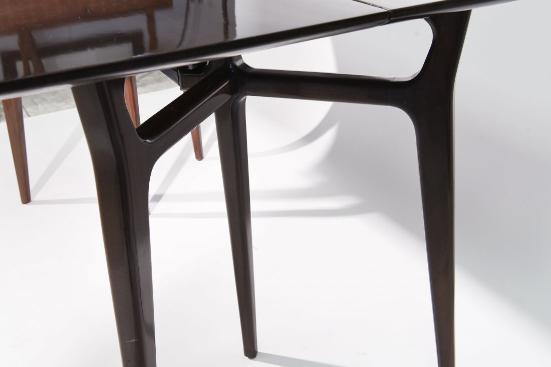 MID CENTURY FLIP TOP CONSOLE TABLE - 6