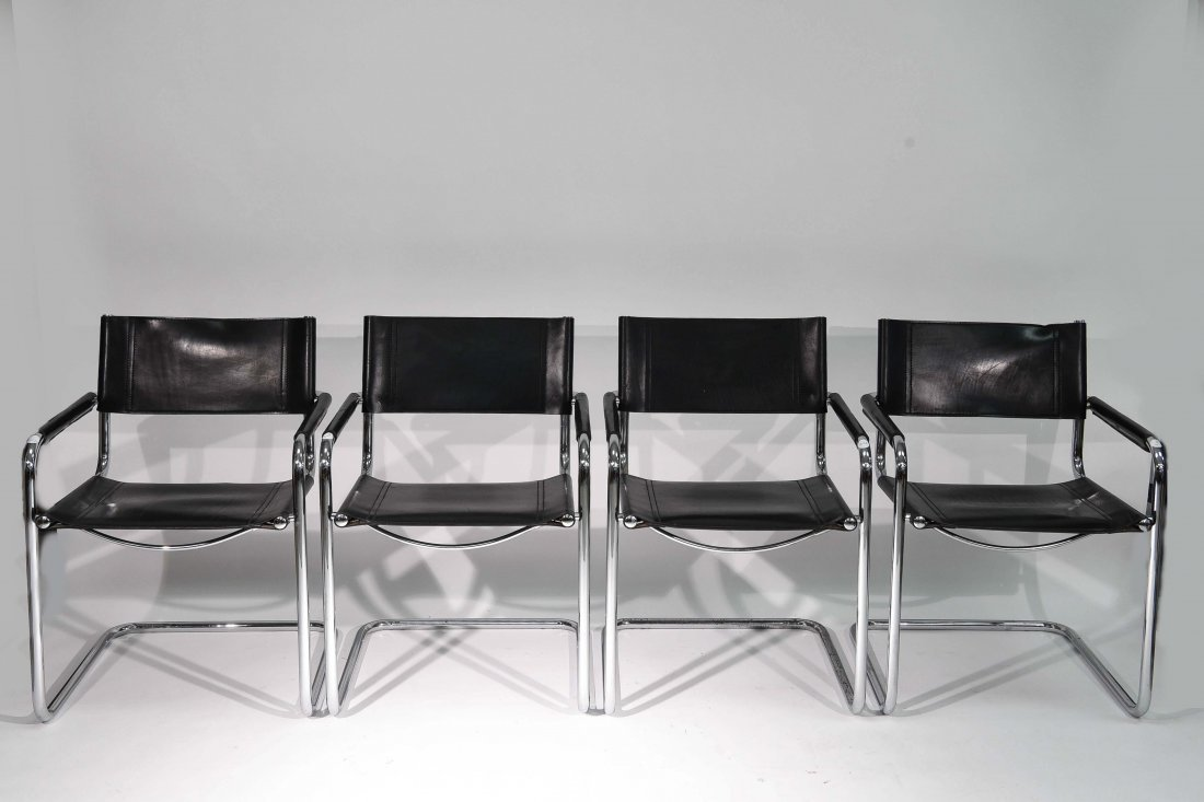 (4) BRUER FOR KNOLL ARM CHAIRS