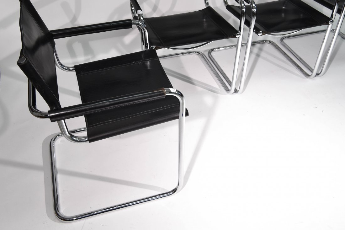 (4) BRUER FOR KNOLL ARM CHAIRS - 6