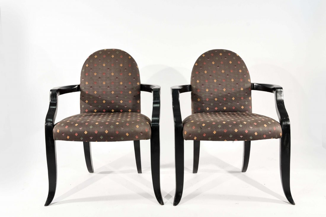 PAIR OF DONGHIA (ATTR.) ARM CHAIRS