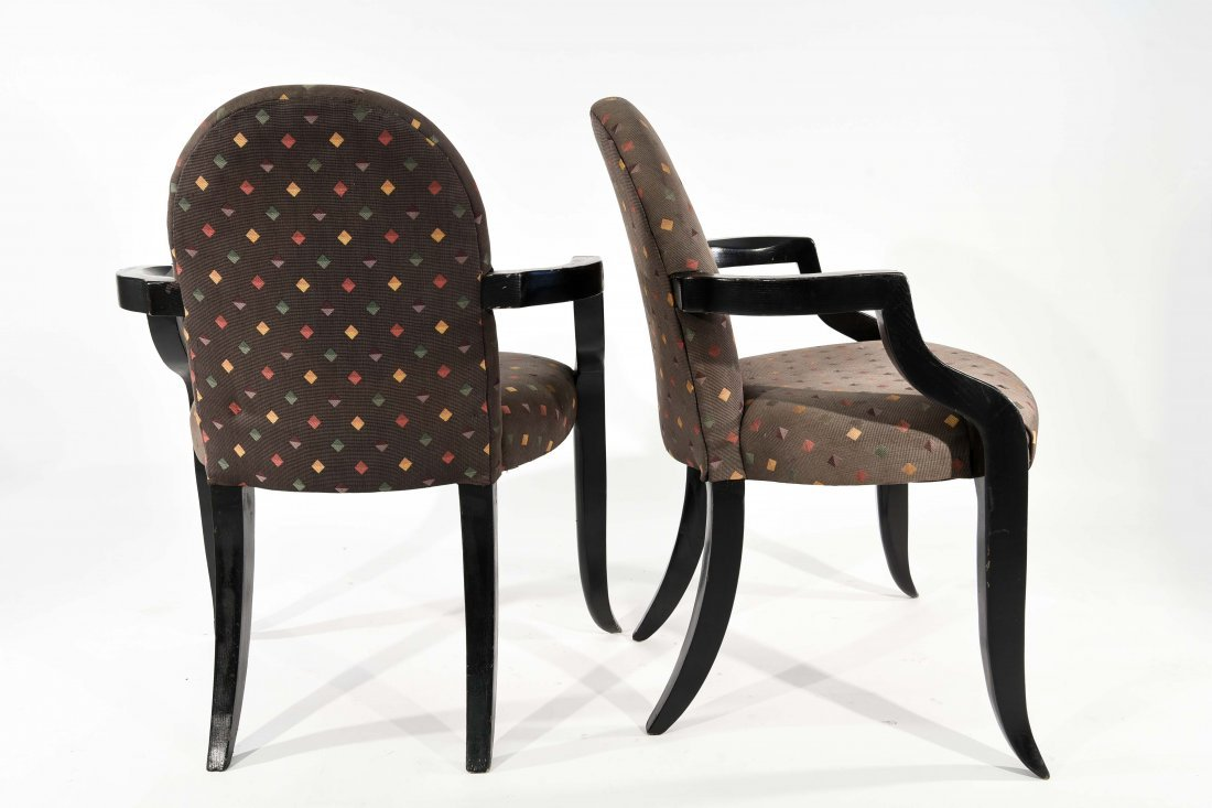 PAIR OF DONGHIA (ATTR.) ARM CHAIRS - 8