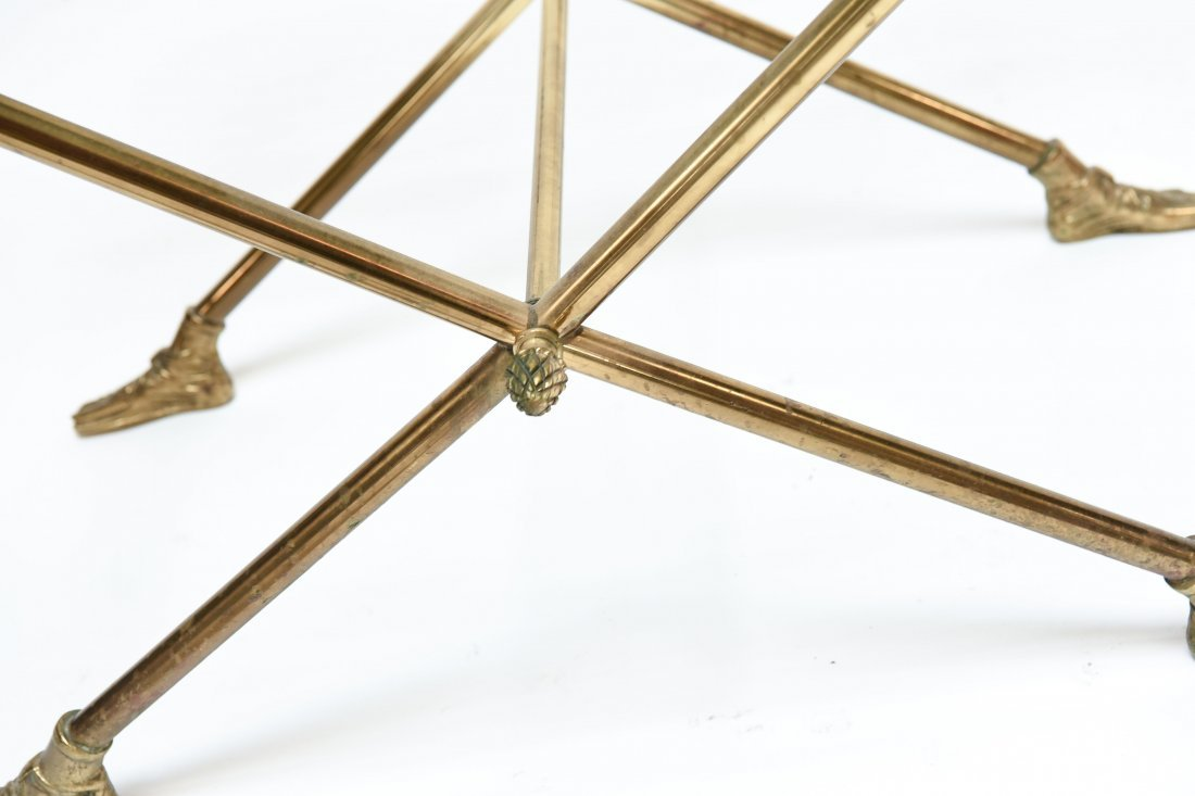 ITALIAN 1960S BRASS AND GLASS SIDE TABLE - 2