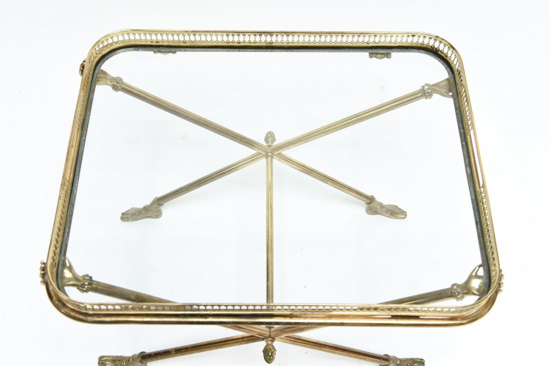 ITALIAN 1960S BRASS AND GLASS SIDE TABLE - 5