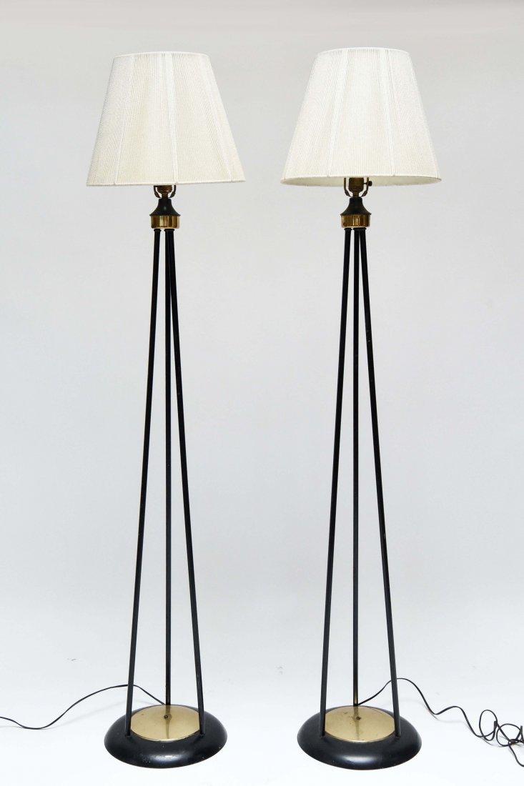 MID-CENTURY METAL FLOOR LAMPS