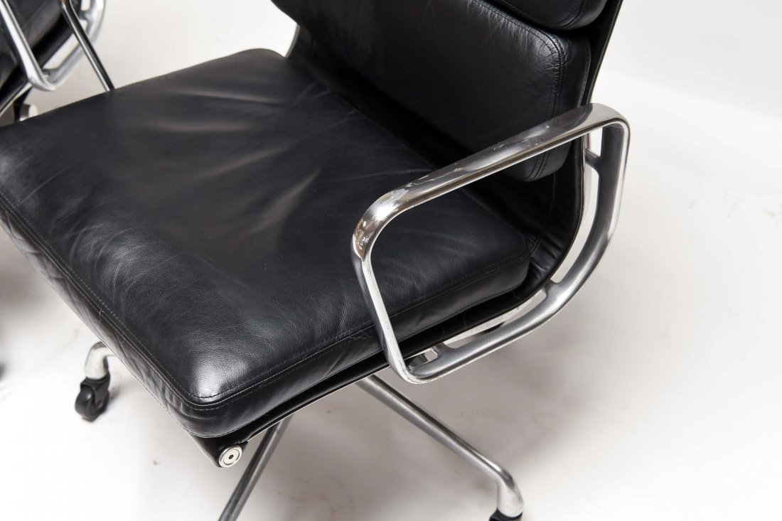 PAIR EAMES HIGH BACK SOFT PAD CHAIRS - 6