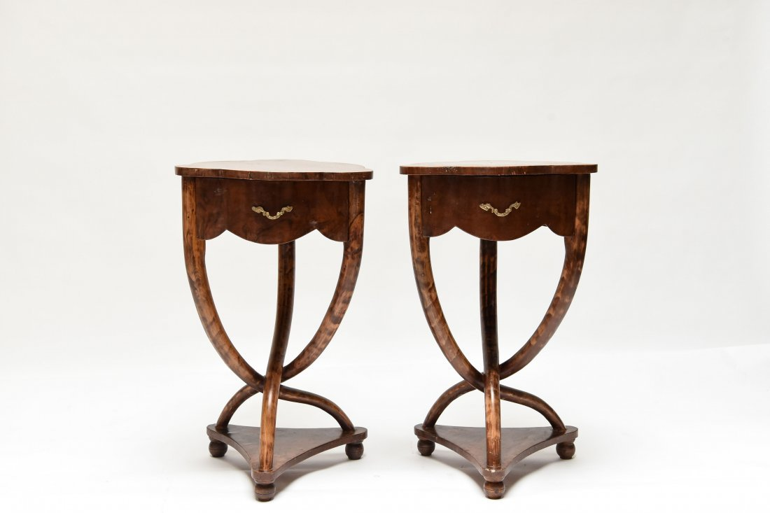 PAIR OF ANTIQUE END TABLES