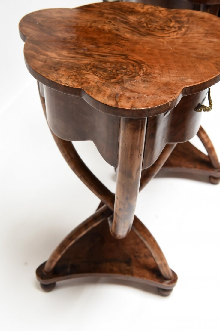 PAIR OF ANTIQUE END TABLES - 7