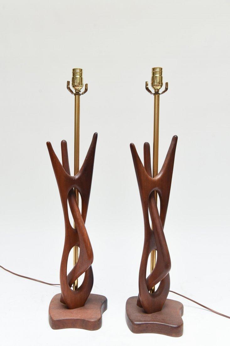 MID-CENTURY WOODEN LAMPS