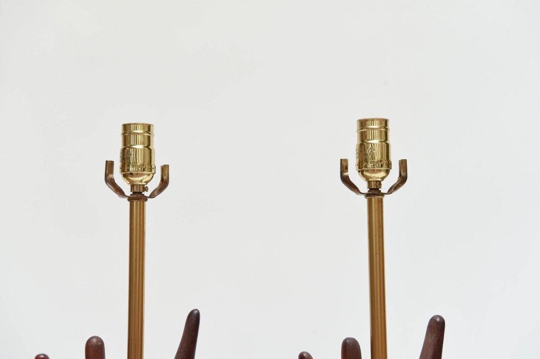 MID-CENTURY WOODEN LAMPS - 6