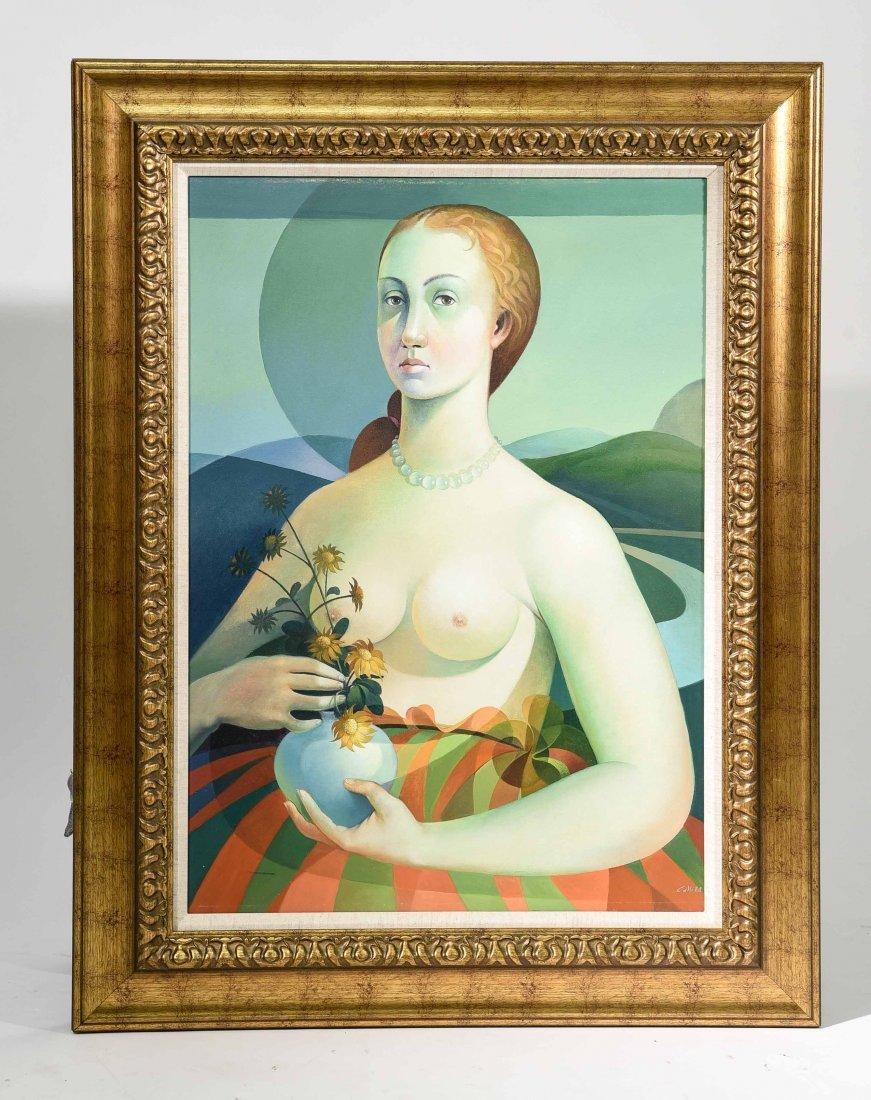 VINCENZO CALLI 1953,O/C PORTARIT OF A LADY
