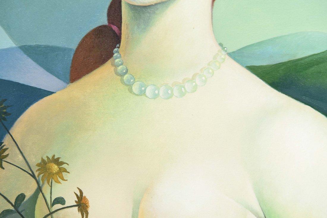 VINCENZO CALLI 1953,O/C PORTARIT OF A LADY - 4
