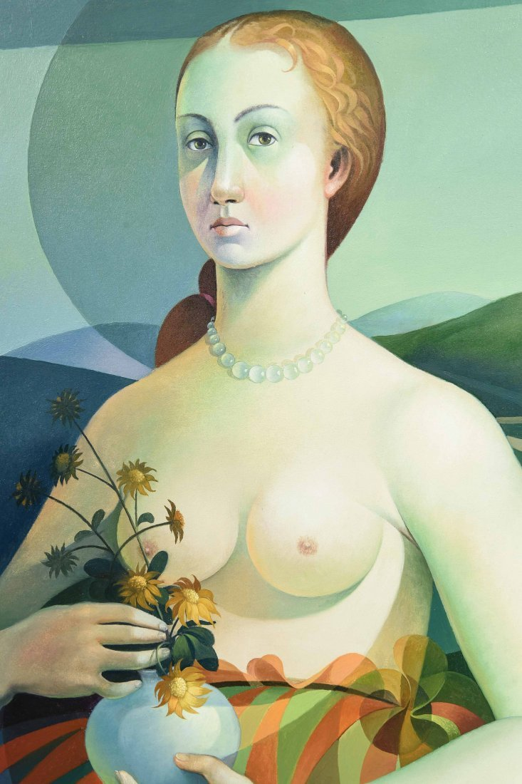 VINCENZO CALLI 1953,O/C PORTARIT OF A LADY - 8