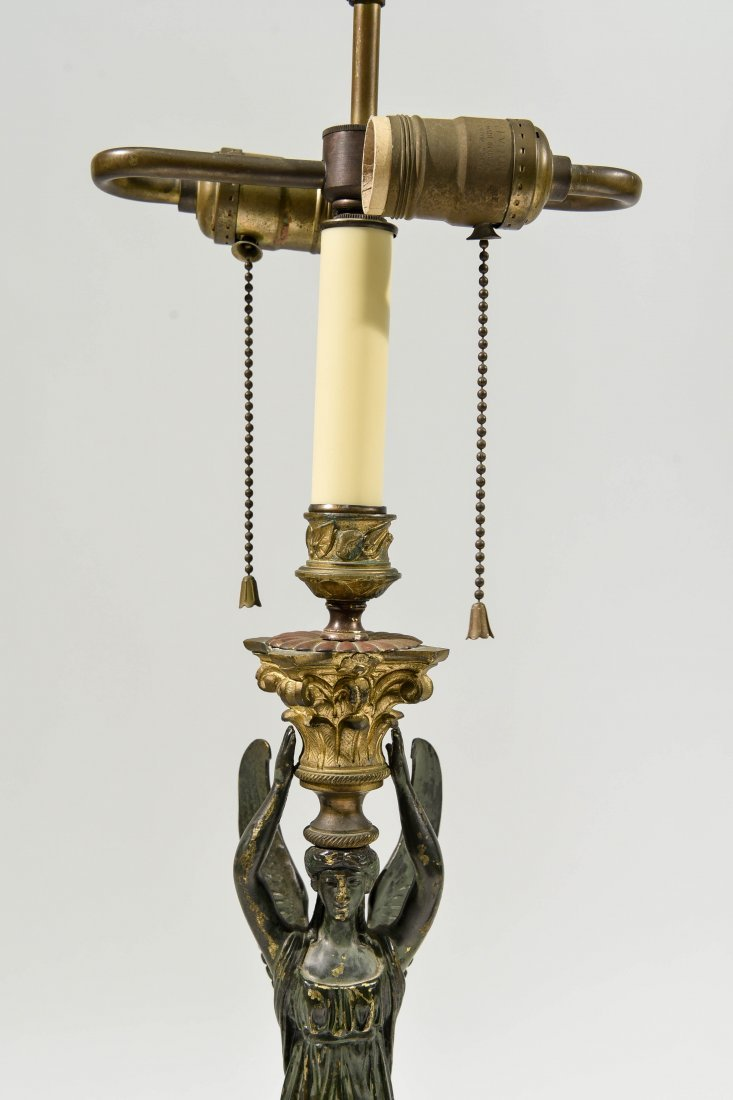PAIR CLASSICAL FRENCH STYLE BRONZE LAMPS - 2