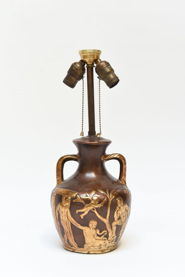 ART DECO POTTERY LAMP
