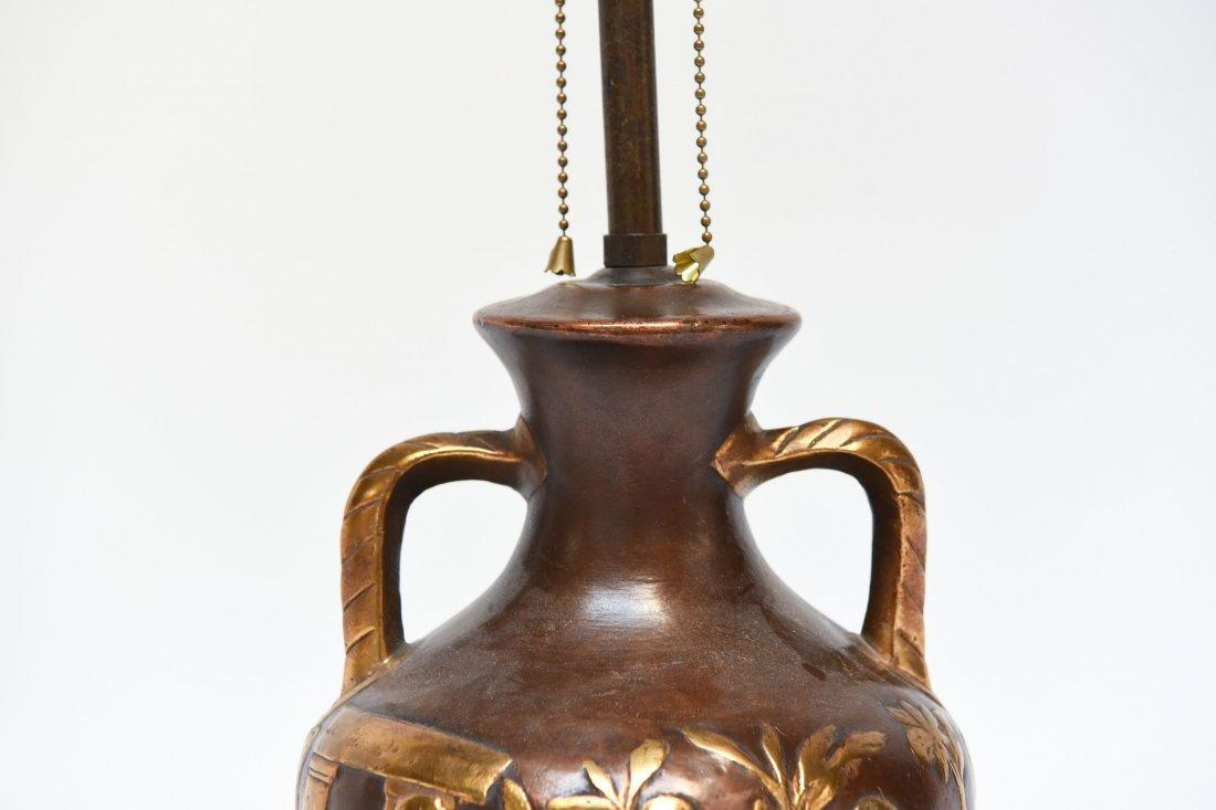 ART DECO POTTERY LAMP - 3