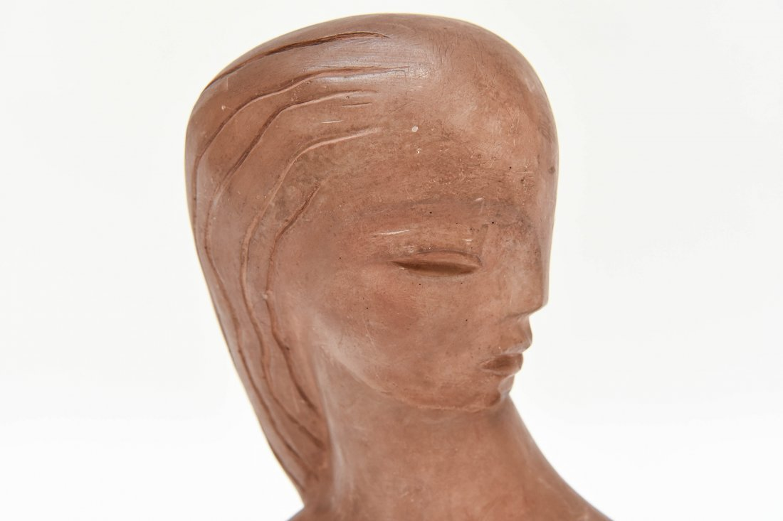 ART DECO POTTERY SCULPTURE - 4