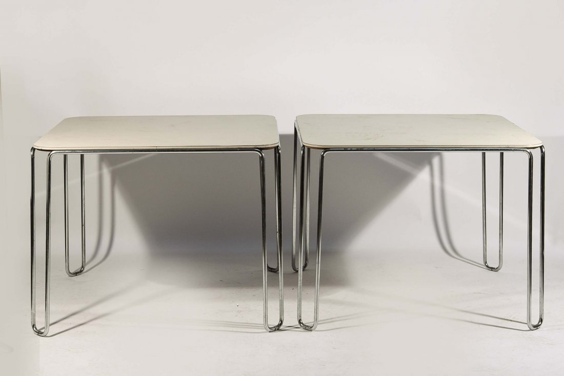 PAIR OF MARCEL BREUER B10 TABLES