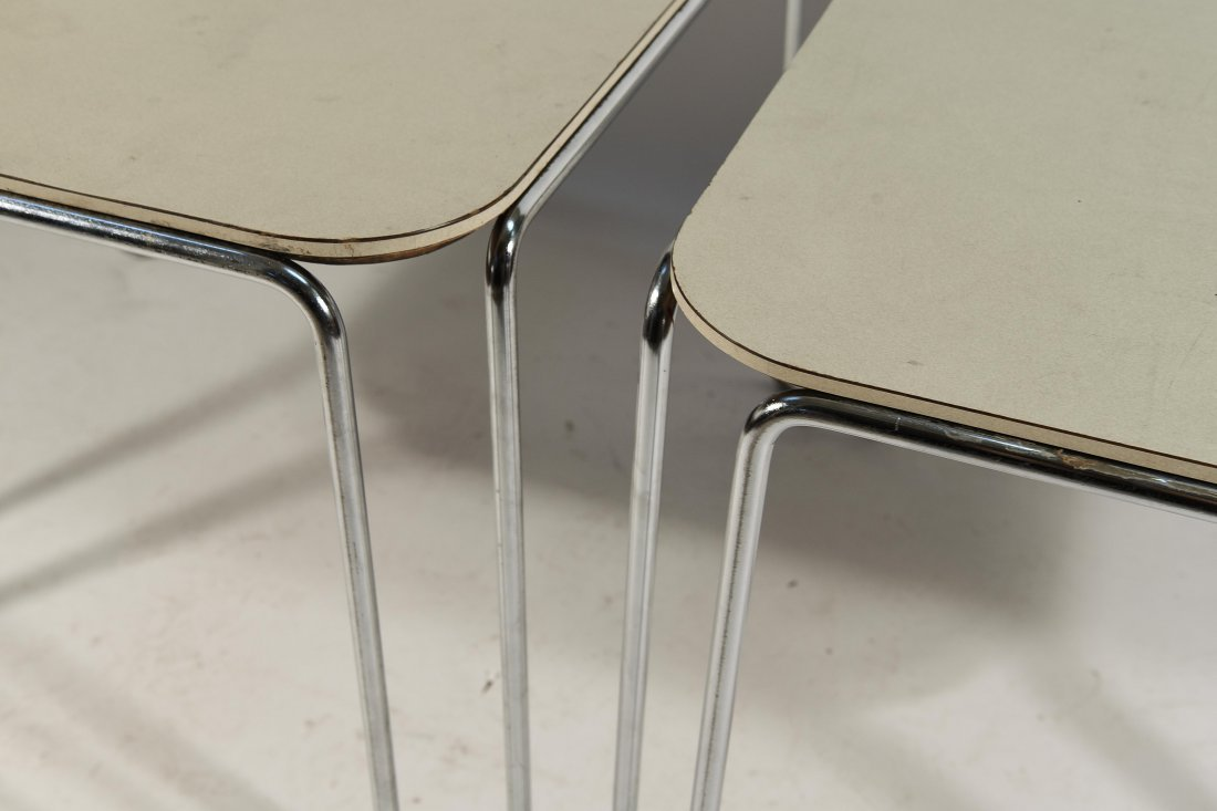PAIR OF MARCEL BREUER B10 TABLES - 3