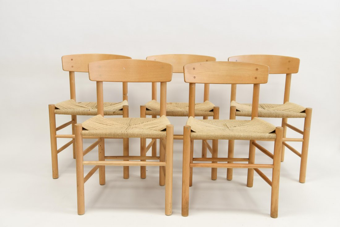 5 BORGE MOGENSEN DINING CHAIRS
