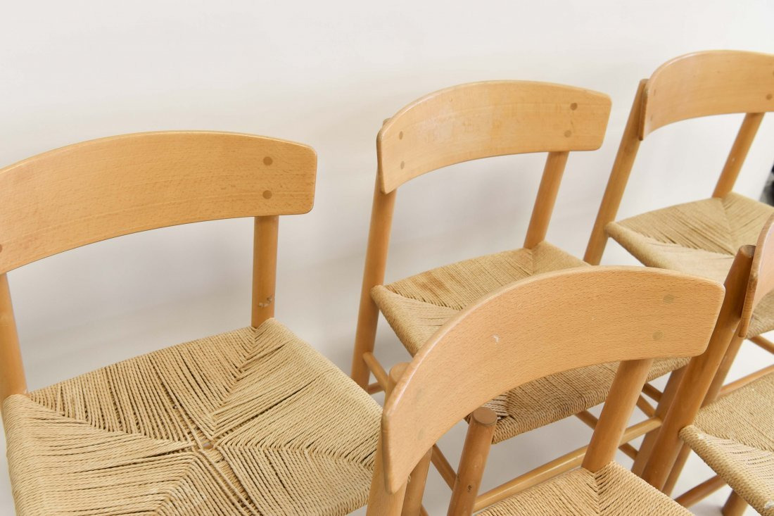 5 BORGE MOGENSEN DINING CHAIRS - 6