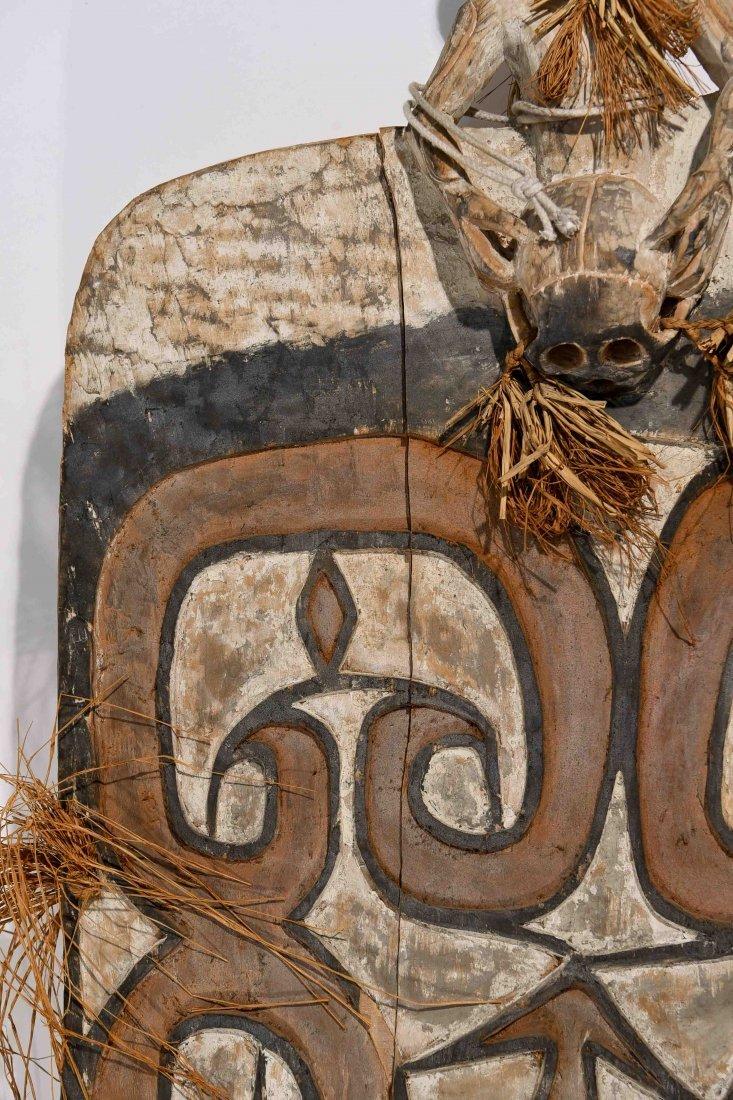 VINTAGE ASMAT TRIBE PAPUA NEW GUINEA SHEILD - 5